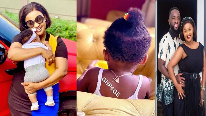 Pre-birthday photos of Baby Maxin, Mcbrown's daughter hit online-Her face shows for the 1st time
