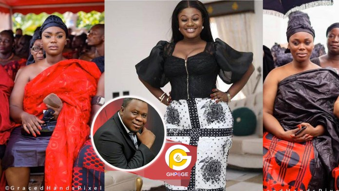 4th wife of Dr. Kweku Oteng, Akua GMB and Linda Akosua Achiaa (The 5th wife) clashed at the billionaire's mother's funeral