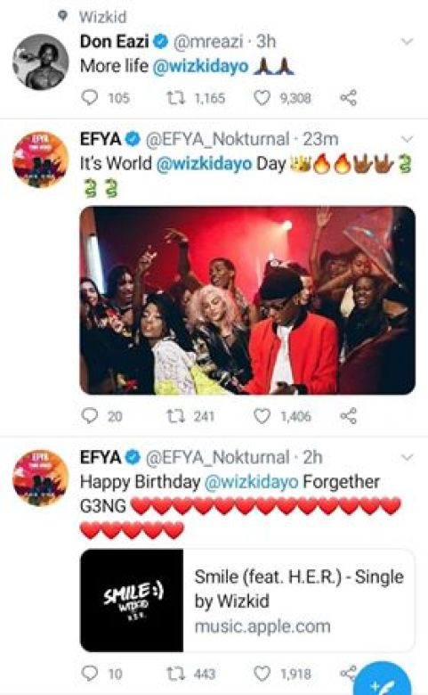 Mr Eazi and Efya's wishes