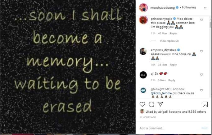 Moesha post on IG