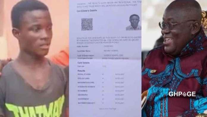 Nana Akufo-Addo offers scholarship to brilliant SHS graduate
