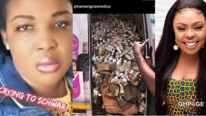 Pinamang cosmetics CEO and Afia Schwar