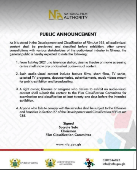 Ghana TV stations to stop showing Telenovelas from 1st May 2021 2