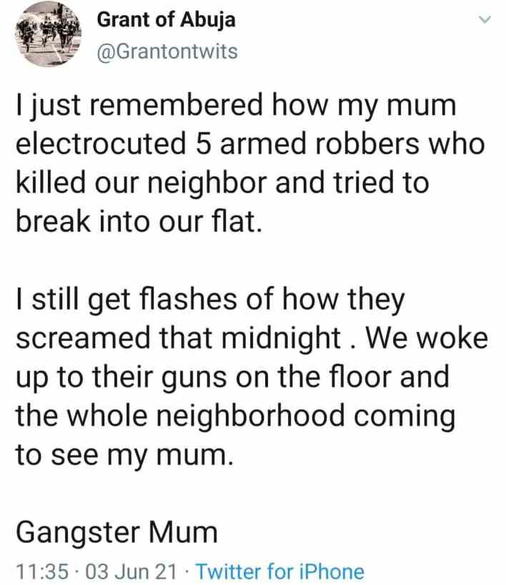 Man narrates how his 'gangster mum' electrocuted five men in robbery attempt 2