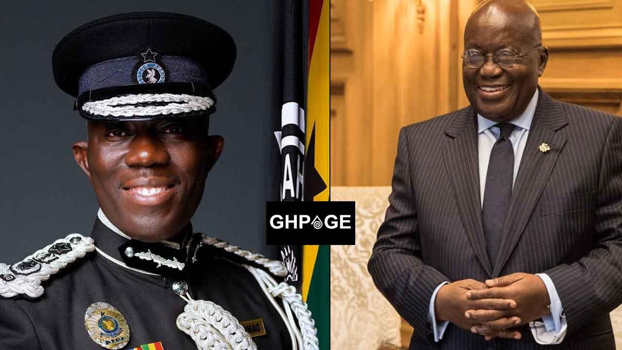 President Akufo Addo and Dampare