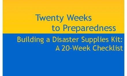 Twenty Weeks to Preparedness