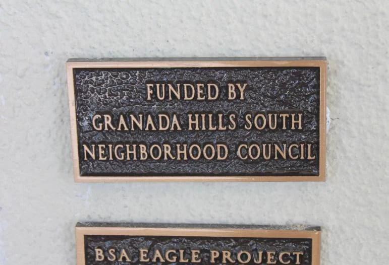 GHSNC plaque at GHHS Vietnam War memorial
