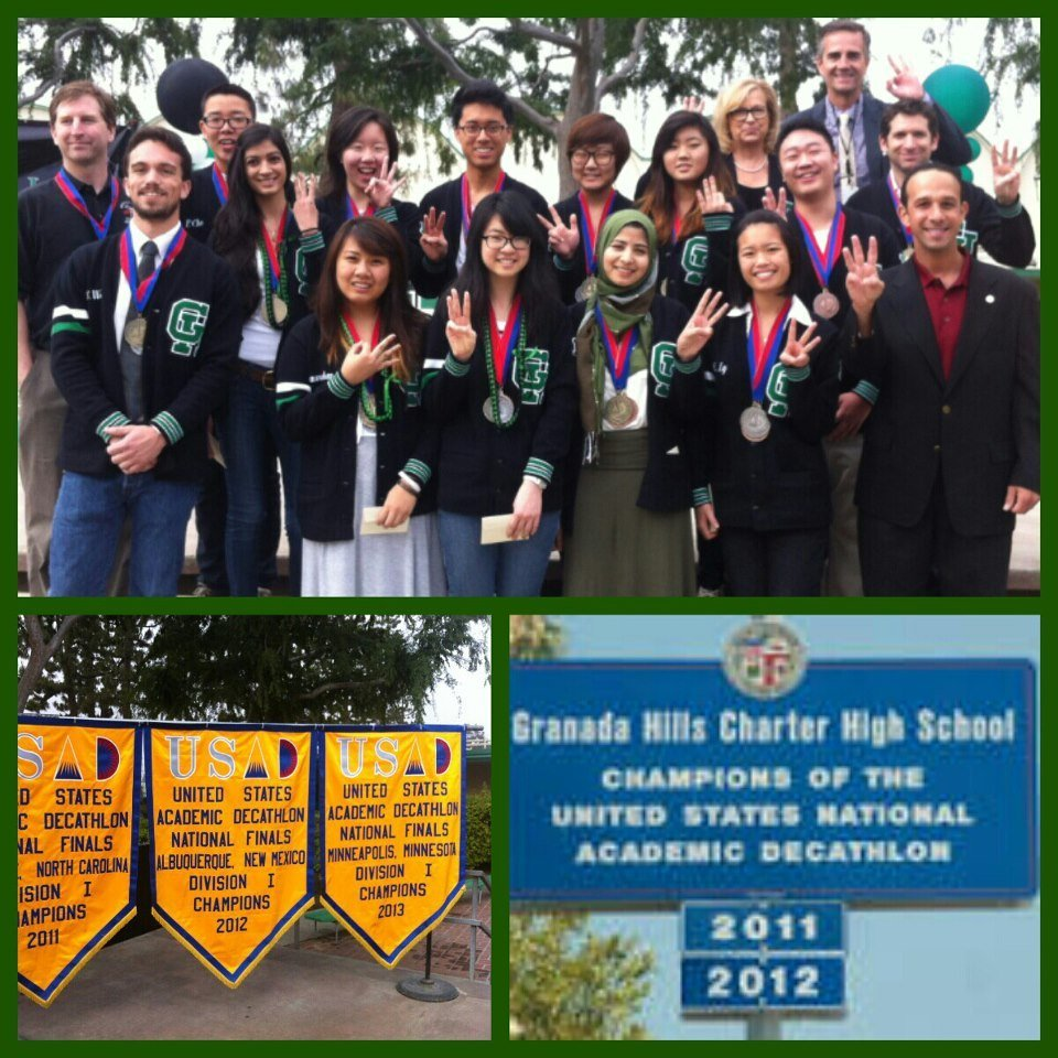"Granada Hills Charter ""Three-Peats"" as National Academic Decathlon Champions"