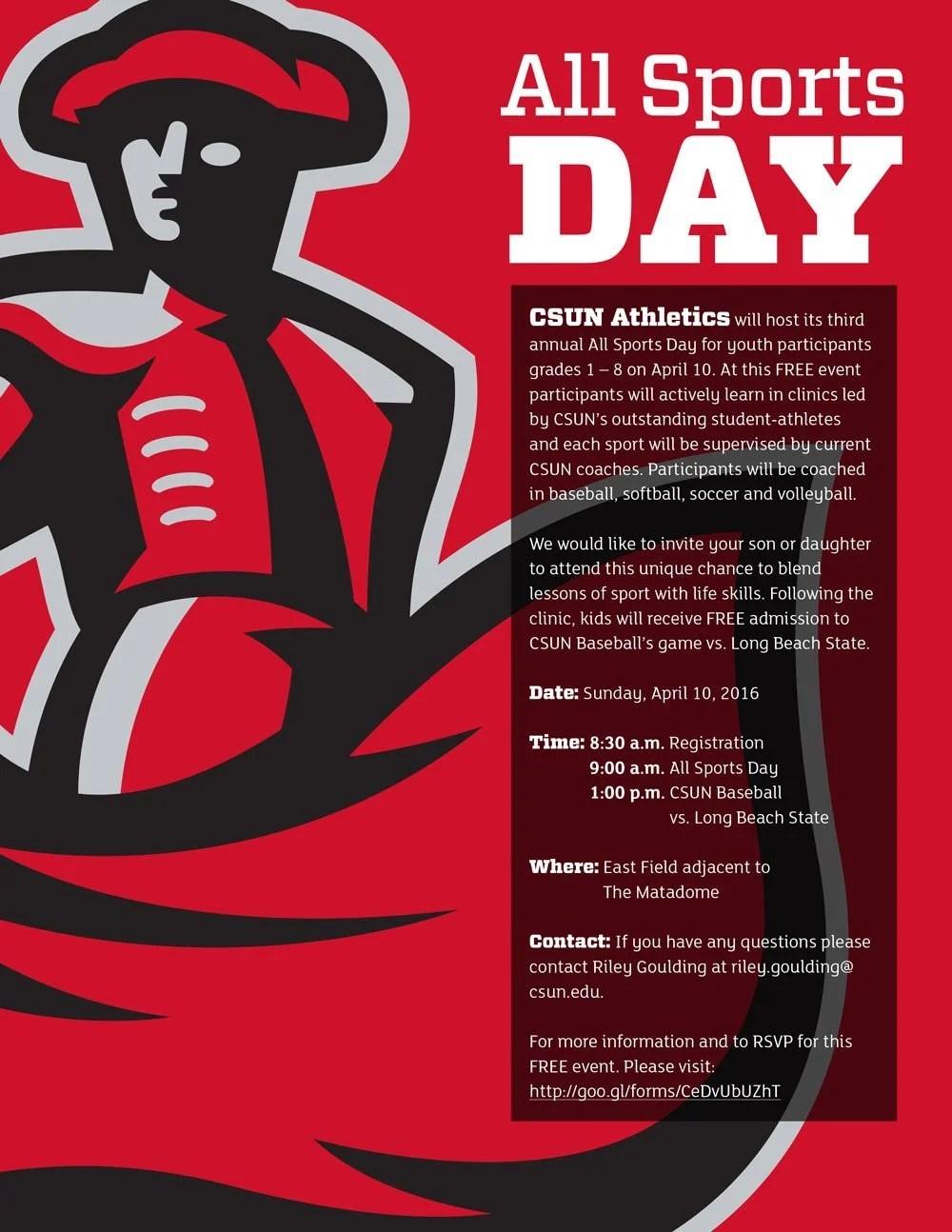 CSUN All Sports Day Free Clinic