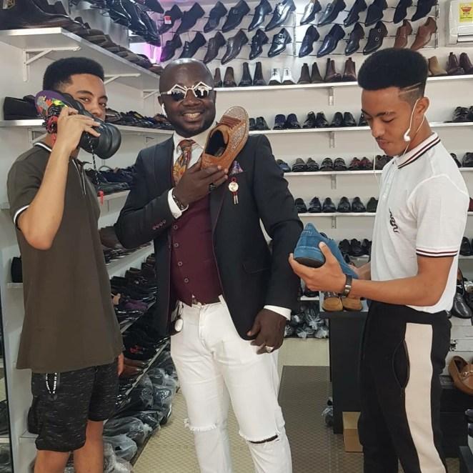 Afia Schwarz & Sons Spotted Doing Xmas Shopping At Nana Aba Anamoah's Baby Daddy Shop