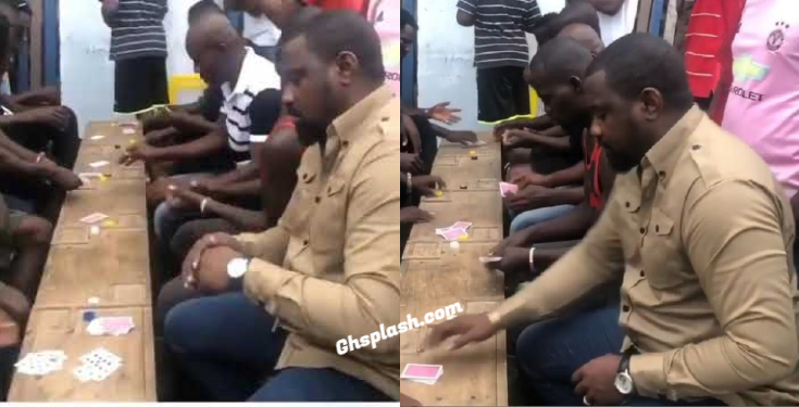 John Dumelo spotted playing cards