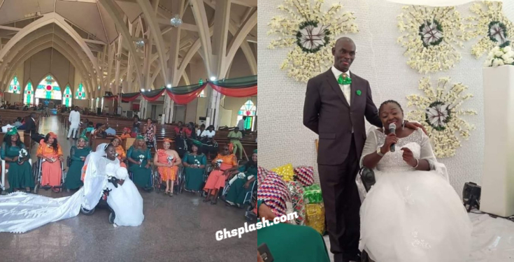 Disabled lady wedding photos