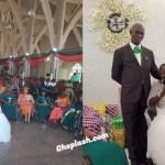 Disabled lady wedding photos