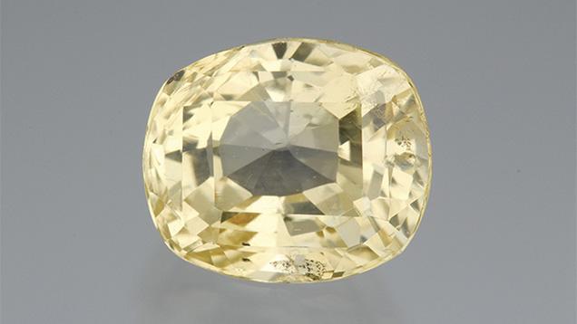 6.76 carat Sri Lankan Yellow Sapphire. Photo by Robert Weldon / GIA