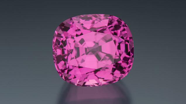 This 24.59 carat Sri Lankan Pink Sapphire. Photo by Robert Weldon/GIA