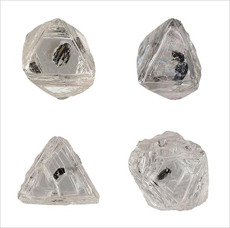Một số viên kim cương thô Diavik. Jian Xin (Jae) Liao. GIA