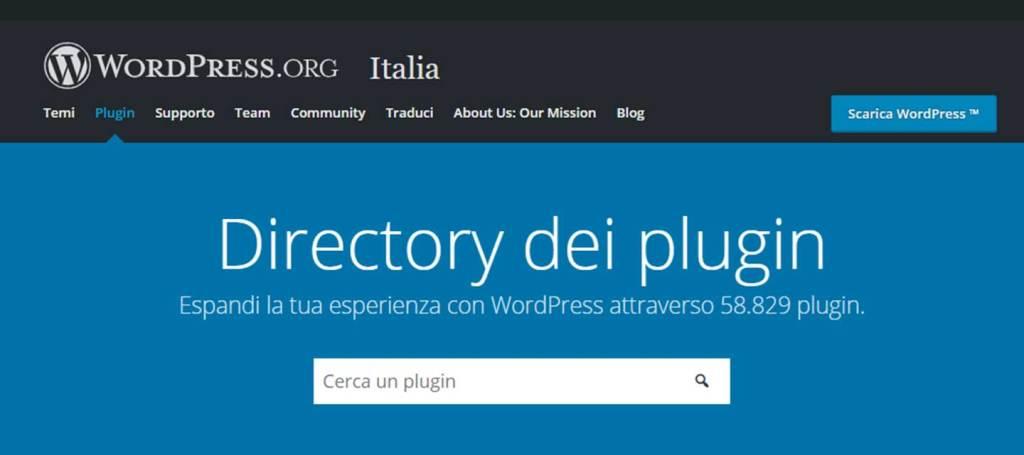 i plugin di wordpress
