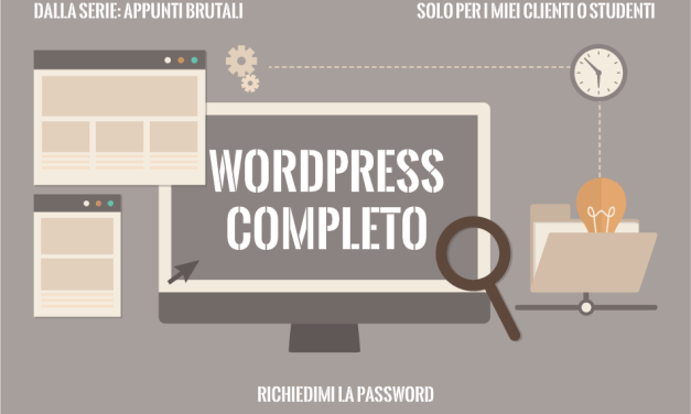 Appunti brutali di WordPress