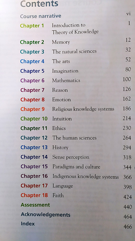 teoria della conoscenza