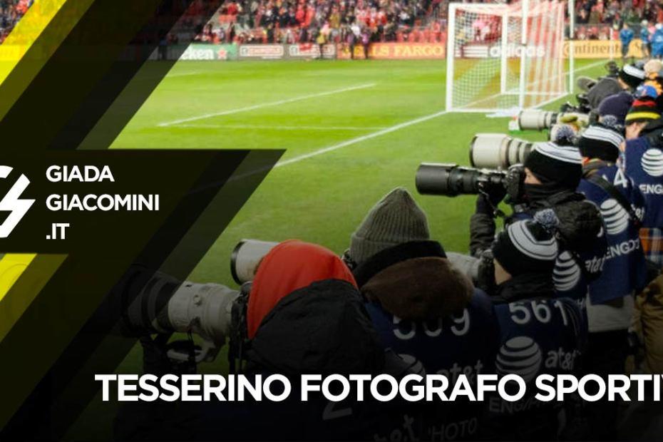 Tesserino fotografo sportivo