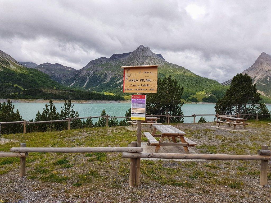 area pic nic laghi di cancano