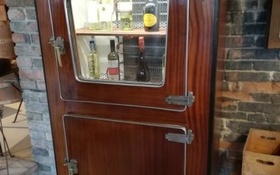 Mahogany 40s fridge icebox