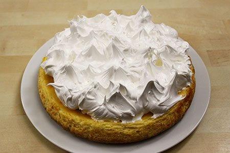 Cheesecake al limone meringata