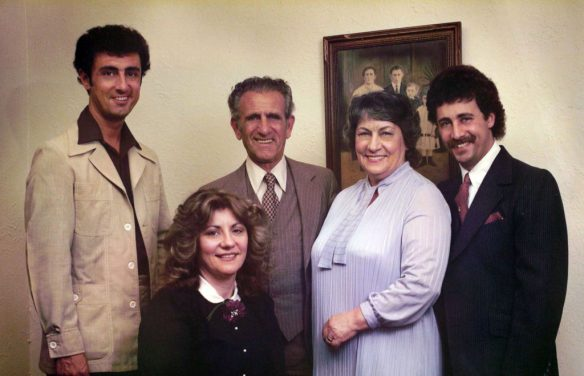 The Giampolo family in the 1970s.