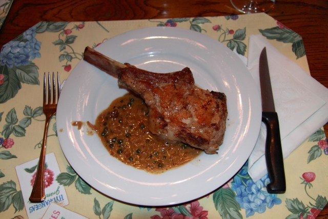 Veal Chops with Capers and Cream