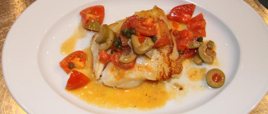 chilean sea bass with tomato relish