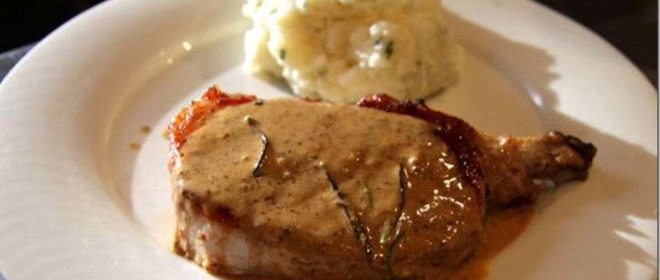 Pork Steaks with Mustard and Rosemary Sauce