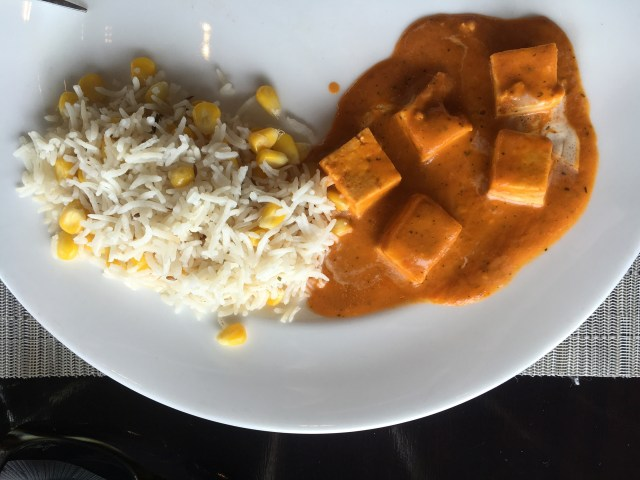 Paneer with cottage cheese, curry and hot chili, absolutely delicious