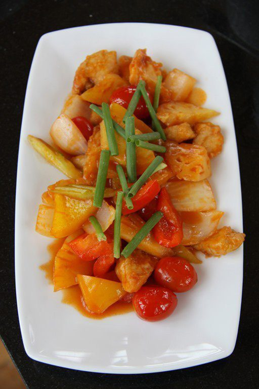 Phad Priew Wan Pla or Sour and Sweet Fried Fish
