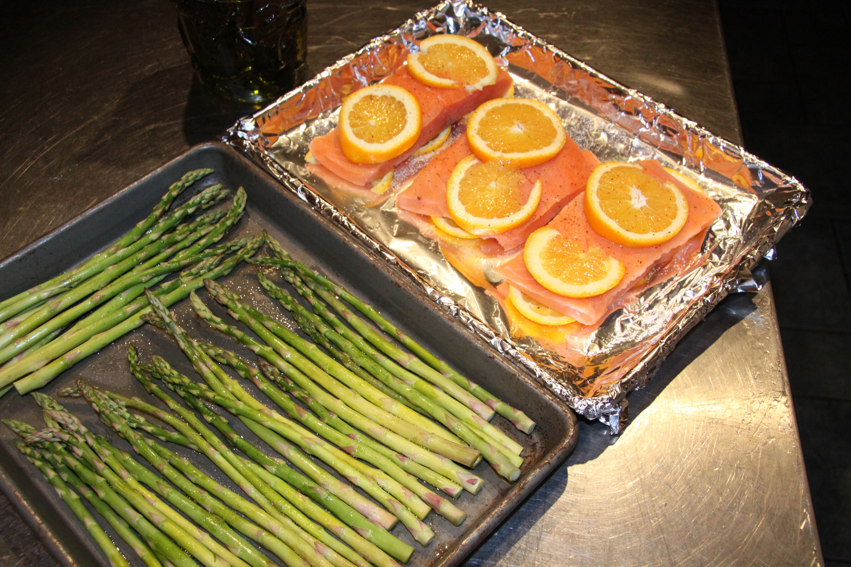 asparagus and salmon orange