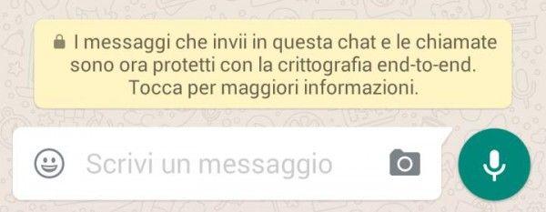 Ultimo aggiornamento WhatsApp