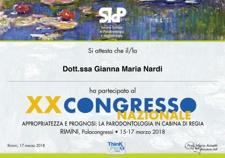 XX Congresso Nazionale SIdP Rimini, 15-17.03.18