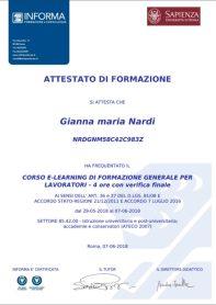 Corso e-learning Sapienza