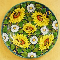Linea Girasoli Round Wall Plate