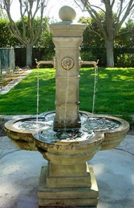 #1595 Grand Avignon Courtyard Fountain, Garden Fountain