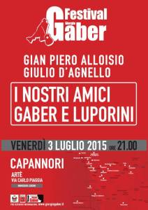 Festival Gaber 2015 - I nostri amici Gaber e Luporini @ Arté - Capannori (LU) | Capannori | Toscana | Italia