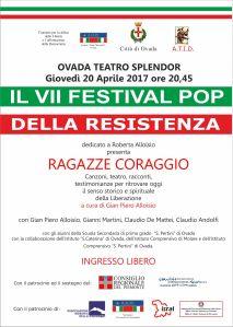 Festival Pop della Resistenza dedicato a Roberta Alloisio @ Teatro Splendor - Ovada (AL) | Ovada | Piemonte | Italia