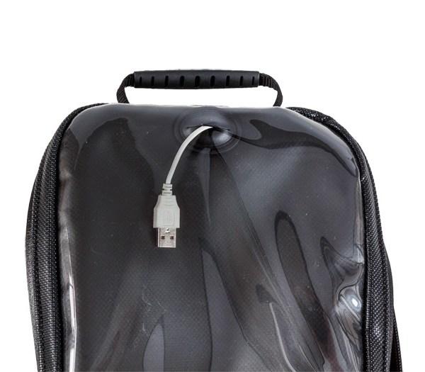 tank bag electronics port