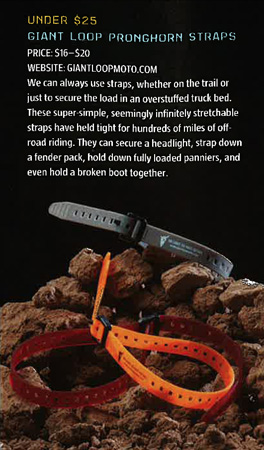 Giant Loop Pronghorn Straps Dirt Rider Magazine Product of the Year