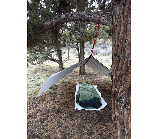 giant loop tow strap plus pronghorn straps equals shelter tarp ridge line