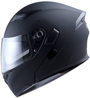 Motorcycle Modular Full Face Helmet Flip up Dual Visor Sun Shield