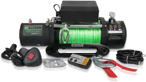 Synthetic Rope Winch with Wireless Handheld Remote