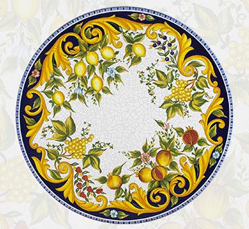 Giardini Italiani Tavoli In Ceramica Di Deruta