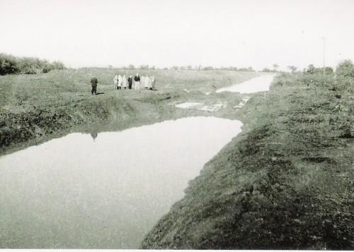 Obra de canalização do arroio Dilúvio em 1950