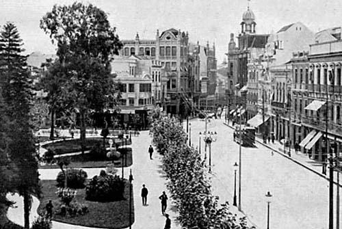 Praça da Alfândega em 1919