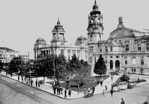 Praça da Alfândega em 1925
